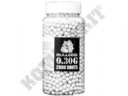2000 x 6mm x 30g White Polished Airsoft BB Gun Pellets in Bottle Bulldog Precision Pro Grade